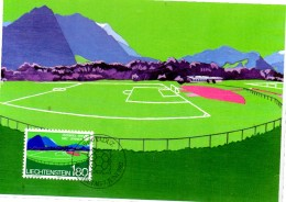 LIECHTENSTEIN  Carte Maxi   Cup 1982 Football Soccer Fussball - Wereldkampioenschap