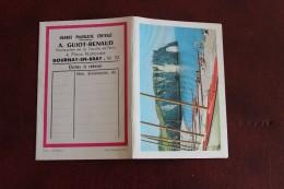Petit Calendrier De Poche  Vue étretat   Grand Pharmacie A. GUIOT RENAUD  A  Gournay En Bray  1967  Ref 2 - Calendriers