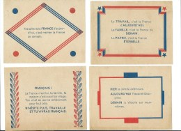 LOT 7 AFFICHETTES CITATIONS DU MARECHAL PETAIN - 1939-45