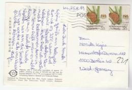 1984 MALAYSIA Stamps COVER (postcard) Plant TIGER EMBLEM Tigers Malaya - Malaysia (1964-...)