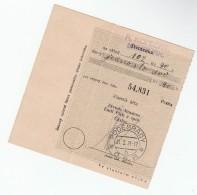 1931 Podebrady CZECHOSLOVAKIA Pmk On POST OFFICE SAVINGS BANK CHEQUE RECEIPT - Czechoslovakia