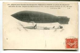 THMS1 Aviation Dirigeable Depart Pour Verdun Du Dirigeable Ville De Paris - Dirigeables
