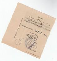 1931 Podebrady CZECHOSLOVAKIA Pmk On POST OFFICE SAVINGS BANK CHEQUE RECEIPT - Covers & Documents