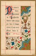 Communieprentje / Communie / Communion / Vormsel / Confirmation / Julien Lega / Antwerpen / 1889 / 2 Scans - Communion