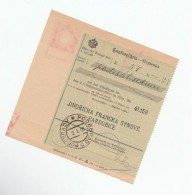 1909 Podebrady BOHEMIA Pmk On POST OFFICE SAVINGS BANK CHEQUE RECEIPT Czechoslovakia Austria - Sin Clasificación