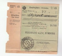 1907 Podebrady BOHEMIA Pmk On POST OFFICE SAVINGS BANK CHEQUE RECEIPT Czechoslovakia Austria - Unclassified