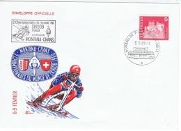 SKI-L78 - SUISSE FDC Championnat Du Monde De SKIBOB à Montana-Crans 1969 - Marcofilie