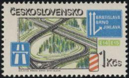 Czechoslovakia / Stamps (1981) 2492: Motorway Junction (near Brno); Painter: Vladimir Kovarik - Camion