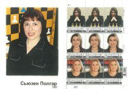 Ukraine 2015, Chess Champion S. Polgar, Sheetlet - Ucrania