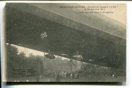 THMS1 Aviation Dirigeables Bourbonne Les Bains Capture Du Zeepling L-49 La Foule Discutant - Dirigeables