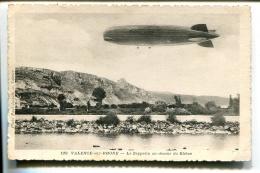 THMS1 Aviation Dirigeables Valence Sur Rhone, Le Zeepelin Au Dessus Du Rhone - Dirigeables