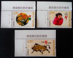 VALEURS CIVIQUES 2015 - NEUFS ** - YT 5294/96 - COINS DE FEUILLES - Unused Stamps