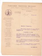Lettre Librairie Quillet  - Inspecteur Censure - Livre Editeur - Saint Germain Paris France -moulin 1929 - France