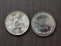 Myanmar ( BURMA) 100 Kyats 1999  Km64  1PCS UNC  ASIA Coin - Myanmar