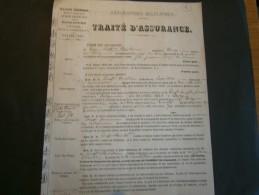 N EVERS-ASSURANCES MILITAIRES-8/1/1844- ASSURANCE CONTRE UN MAUVAIS TIRAGE AU SORT POUR SERVICE MILITAIRE - Documents Historiques