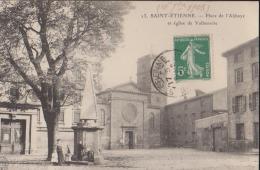 CPA:St Etienne:Place De L'Abbaye Et Eglise De Valbenoîte - Saint Etienne