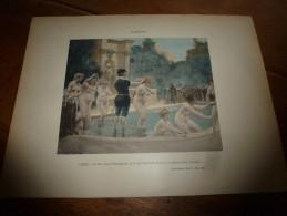 1897  Image NU N° 9 ,de Jules Garnier Pour Rabelais (dim.hors Tout 320mm X 232mm) Classé Attentatoire à La Morale - Vieux Papiers