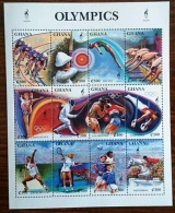 GHANA Jeux Olympiques ATLANTA 96. Feuillet De 12 Valeurs ** MNH Neuf Sans Charniere - Summer 1996: Atlanta
