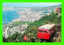HONG KONG, CHINE - THE HONG KONG PEAK TRAMWAY -  ANIMATED - PUB. BY NATIONAL CO - - Chine (Hong Kong)