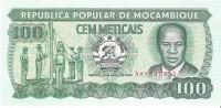 Mozambique - Pick 130 - 100 Meticais 1989 - Unc - Mozambique
