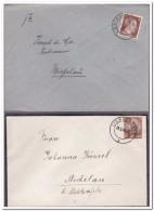 4 Briefe Stempel Lichtenfels Zwischen 1940 Und 1943 - Alemania