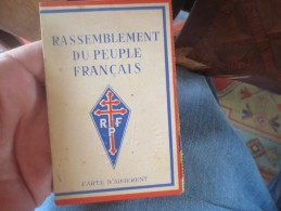 CARTE RASSEMBLEMENT DU PEUPLE FRANCAIS - R P F- 1948 - VOIR PHOTOS - Documenti