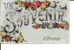 OTRANGE - Un Souvenir D´Otrange - E.D.L. - Circulé: 1912 - Etat: Pli Coin Bas Gauche. Voir Scans. - Oreye