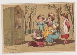 547_ AU BON MARCHE . LITH. BASTER & VIEILLEMARD . GUIGNOL ET ENFANTS - Au Bon Marché