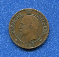 10  Cents  1862 K - France