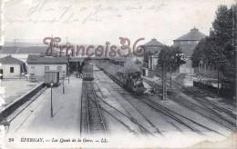 """(51) Epernay - Les Quais De La Gare Train Tren Locomotive """"Bcp De Pertes Et De Blessés Jamais Vu Chose Pareille- 2 SCANS - Epernay"""