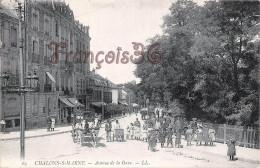 (51) Chalons Sur Marne - Avenue De La Gare - 2 SCANS - Châlons-sur-Marne