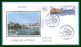 FDC Silk Soie Pornic 2010 N° 4445 Port - 2010-....