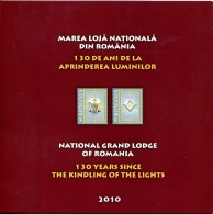 ROMANIA 2010 GRAND LODGE MASONS 2 SHEETS AND FDC IN BOOKLET RARE!!! - Organizations