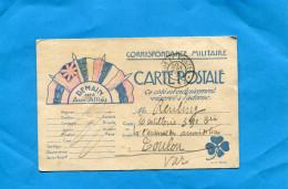 """MARCOPHILIE- Cp FM-5 Drapeaux-""""demain On Les Aura""""cad Trésor Et Postes Sept 1915 - Oorlog 1914-18"""