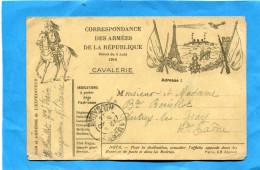"""MARCOPHILIE- Cp FM-illustrée Dragon+tour Eiffel Aéroplane Et Artillerie""""cad Arrivée 5 Oct 1914 - Oorlog 1914-18"""