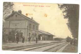 "Carte Postale Ancienne ""Dienville' (10) La Gare Avec Loco - Andere Gemeenten"