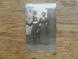 ANCIENNE  PHOTO   / PORTRAIT DE  MERE ET FILLE - Alte (vor 1900)