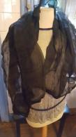 Drie Zwarte Zijden? Fijne Sjaals, 160 Cm X 60 Cm, Silk, 1900, Van Adelijk Dametje - Habits & Linge D'époque