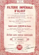 Filterie Impériale D'Alost - - Textile