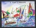Barcelona 1992. Santo Tome E Principe 1989. Mi Block 195 ** MNH - Ete 1992: Barcelone