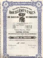 S.A. Des Houillères Unies Du Bassin De Charleroi - Mijnen