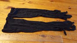 Handschoenen,lange Zwarte , Vintage, - Habits & Linge D'époque
