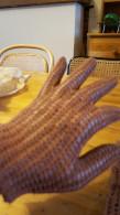 Handschoenen,lbruine, Soort Haakwerk , Vintage, - Habits & Linge D'époque
