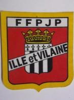 Ecusson Tissu - ILLE Et VILAINE - FFPJP - PETANQUE - Blason - Armoiries - 35 - Pétanque