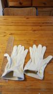 Handschoenen,witte , Vintage, - Habits & Linge D'époque