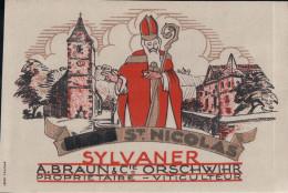 Etiquette De SYLVANER St. NICOLAS De A. BRAUN & Cie ORSCHWIHR - Autres Communes