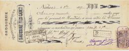 NIMES / SAUSSINE FILS CADET / DROGUERIE & PRODUITS CHIMIQUE / 1897 / Timbres 5 C - Lettres De Change