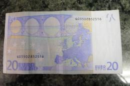 RARE 20 EURO G CYPRUS DRAGHI R030A4 - EURO