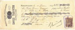 MONTPELLIER / EMILE TARIOTTE / PRODUITS VINICOLES / 1897 / Timbre 5 C - Wissels