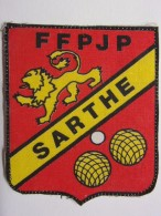Ecusson Tissu - SARTHE - FFPJP - PETANQUE - Blason - Armoiries - Département 72 - Pétanque